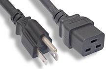 Picture of 3' NEMA 5-15P to IEC320 C19 Power Cord