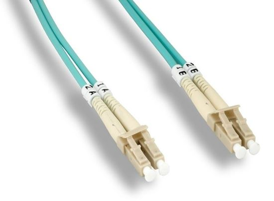 Picture of 15m LC/LC Duplex 50/125 Multimode Fiber Patch Cable 10GB OM4